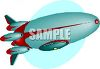 Rocket Shaped Blimp clipart