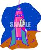 Rocket on a Planet clipart