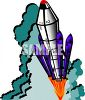 Space Shuttle Type Rocket Launching clipart
