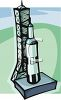 Rocket on a Launch Pad clipart