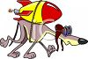Aviator Doggy with a Rocket on His Back clipart