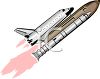Realistic Style Space Shuttle clipart