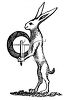 Vintage Black and White Hare clipart