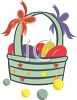Plastic Eggs in an Easter Basket  clipart