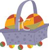 Square Easter Basket clipart