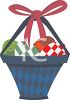 Basket of Painted Easter Eggs clipart