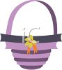 Purple Easter Basket clipart