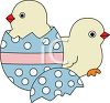 Two Easter Chickens Hatching clipart