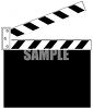 Clapper Marker for Film Making clipart