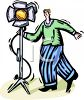 Light Man on a Movie or Television Show Set clipart