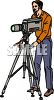 Man Running a Video Camera clipart