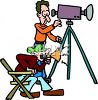 Director and Cameraman clipart