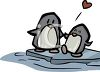 Baby Penguin with His Dad clipart