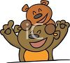 Bear Cub Having Fun With His Dad clipart