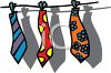 Ties on a Line clipart