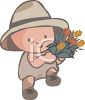 Small Boy with Flowers for His Mom clipart
