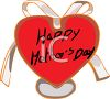 Be-ribboned Heart for Mother's Day clipart