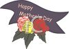 Happy Mother's Day Banner with Roses clipart