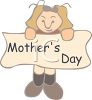 Girl Holding a Mother's Day Sign clipart