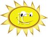Cartoon Sun with a Big Smile clipart