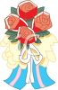 Red Roses Tied with a Bow clipart
