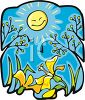 New Plants Under a Springtime Sun clipart