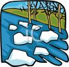 Ice Floes in a River clipart