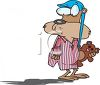 Groundhog Wearing a Nightshirt Sees His Shadow clipart