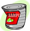 Dented Can of Peas clipart