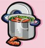 Pot of Peas and Carrots clipart