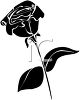 Black and White Rose Silhouette clipart