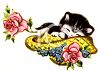 Kitty Sleeping in a Hat clipart