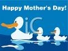Happy Mother's Day-Mother Duck with Her Babies clipart