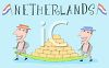 Tourism in the Netherlands  clipart
