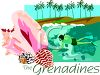 Tourism-The Grenadines Travel Poster clipart