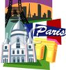 Tourism-Paris, France Travel Poster clipart