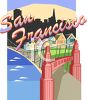 Tourism in the United States-San Francisco clipart