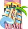 Tourism in the United States-Miami clipart