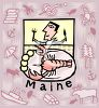 Tourism in the United States-Maine clipart