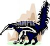 Black and White Anteater clipart