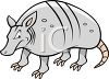 Mean Armadillo clipart