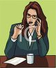 Beautiful Business Woman on Phone clipart