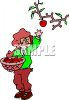 Woman Picking Apples clipart