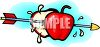 Arrow Through an Apple clipart