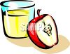 Apple and Juice clipart