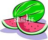 Cut Watermelon clipart
