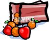 Bag of Apples and Oranges clipart