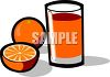 Oranges and Juice clipart