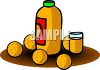 Jug of Orange Juice with Oranges clipart