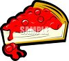 Cherry Covered Cheesecake clipart
